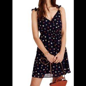 Madewell Ruffle Wrap Dress Confetti Floral 00
